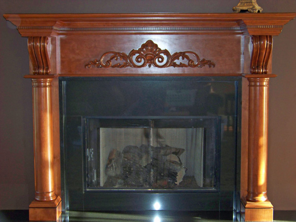 cherry-fireplace-mantel
